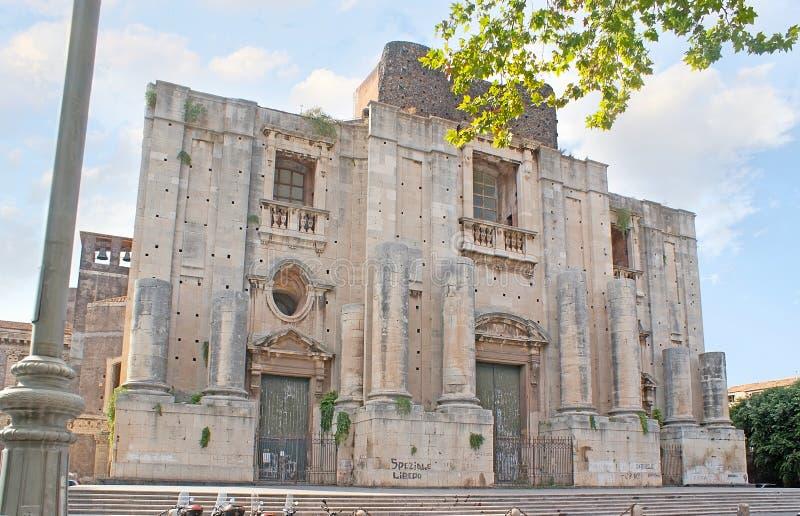 圣尼古拉斯竞技场教会在卡塔尼亚 免版税图库摄影