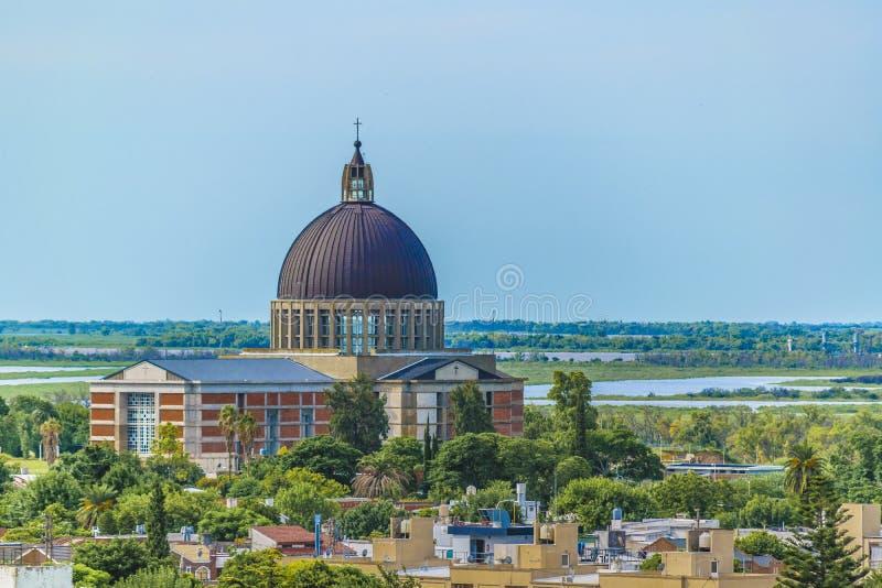 圣尼古拉斯都市风景,阿根廷 库存图片