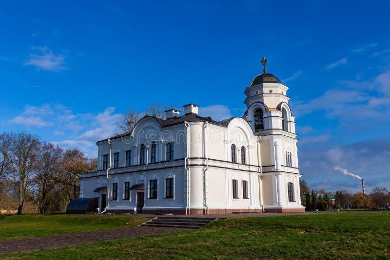 圣尼古拉斯驻军大教堂在布雷斯特堡垒,白俄罗斯 库存图片