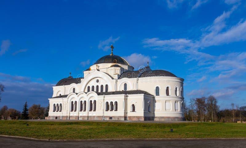 圣尼古拉斯驻军大教堂在布雷斯特堡垒,白俄罗斯 库存照片