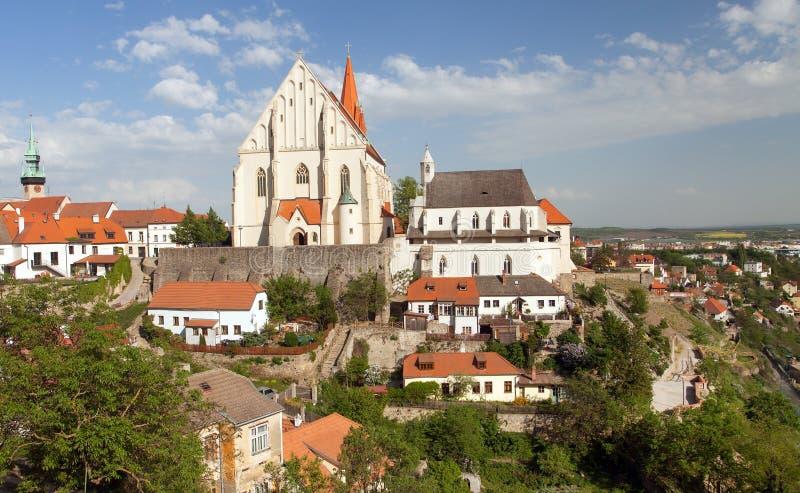 圣尼古拉斯,兹诺伊莫,捷克哥特式教会  库存图片