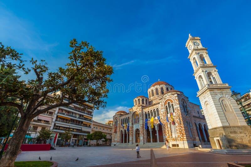 圣尼古拉斯,沃洛斯,希腊大教堂教会- 2017年4月 库存照片