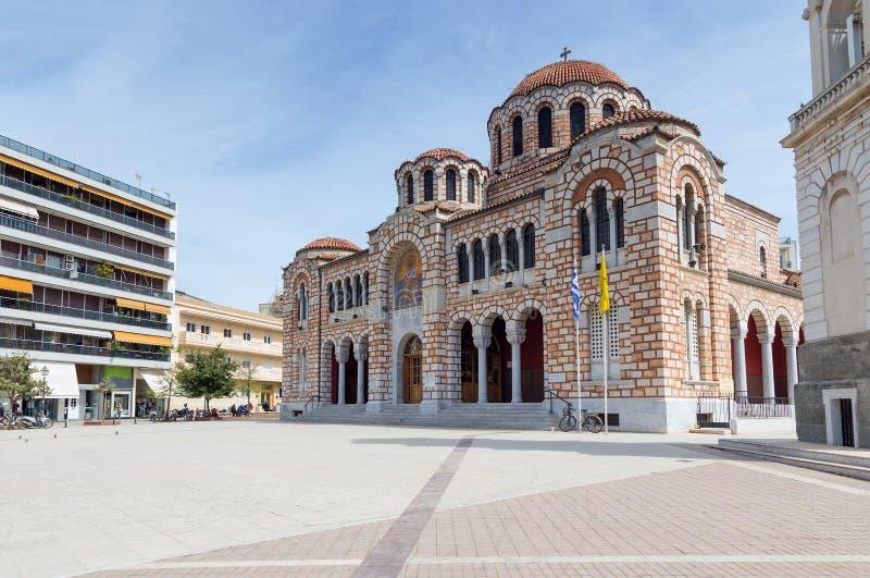圣尼古拉斯,沃洛斯,希腊大教堂  库存图片