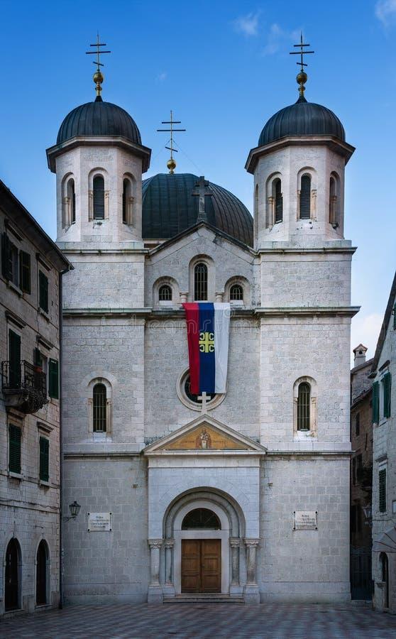 圣尼古拉斯,科托尔,黑山教会  图库摄影