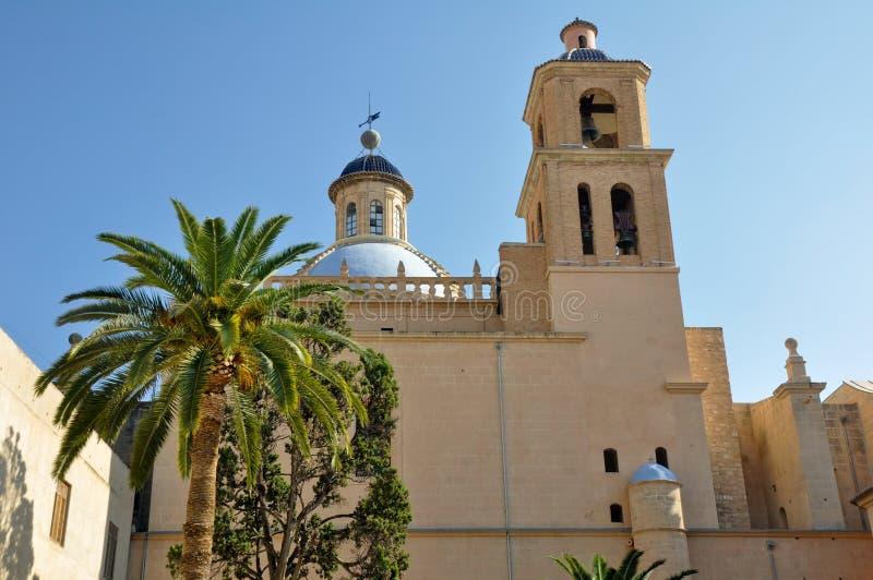圣尼古拉斯,阿利坎特,西班牙共同大教堂  库存图片