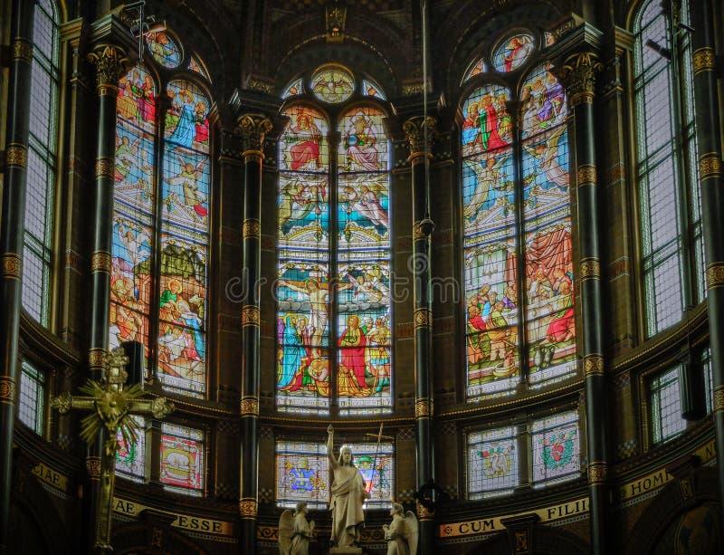 圣尼古拉斯,阿姆斯特丹大教堂  免版税库存照片