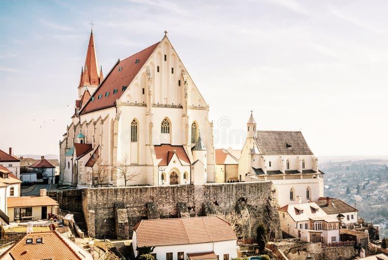 圣尼古拉斯`宅邸教会, Znojmo,捷克语 库存照片