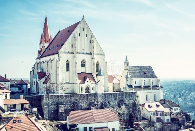 圣尼古拉斯`宅邸教会, Znojmo,捷克语 库存图片