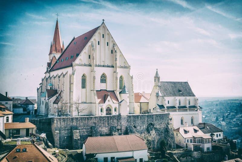 圣尼古拉斯`宅邸教会, Znojmo,模式过滤器 库存图片