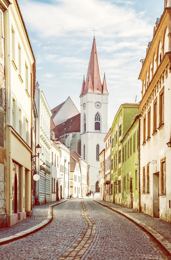 圣尼古拉斯`教会, Znojmo,捷克语 免版税库存照片
