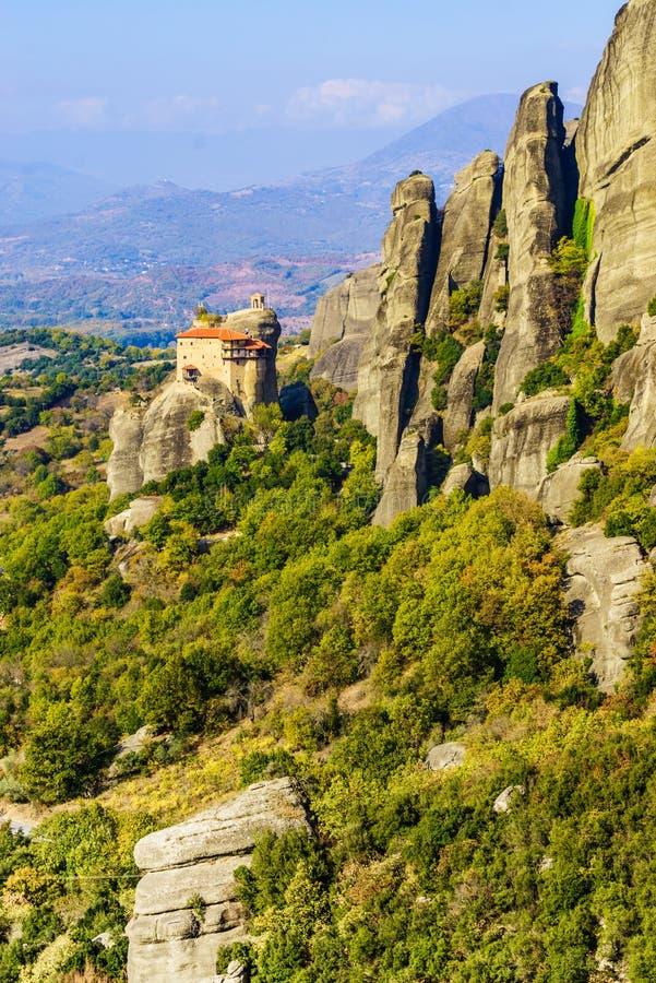 圣尼古拉斯Anapausas修道院在迈泰奥拉,希腊 免版税图库摄影