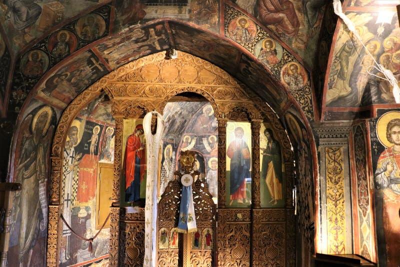圣尼古拉斯Anapausas,迈泰奥拉修道院  图库摄影