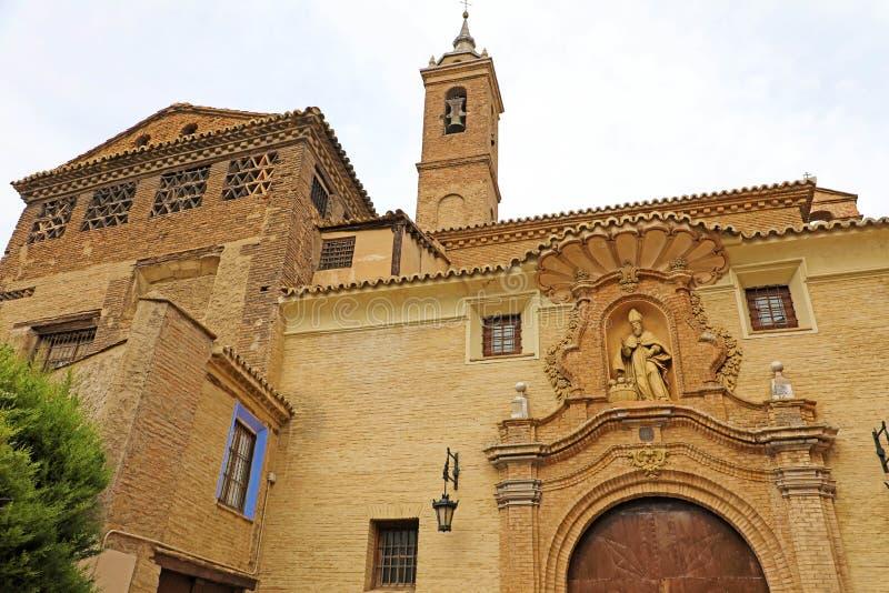 圣尼古拉斯de巴里教会在萨瓦格萨,西班牙 免版税库存照片