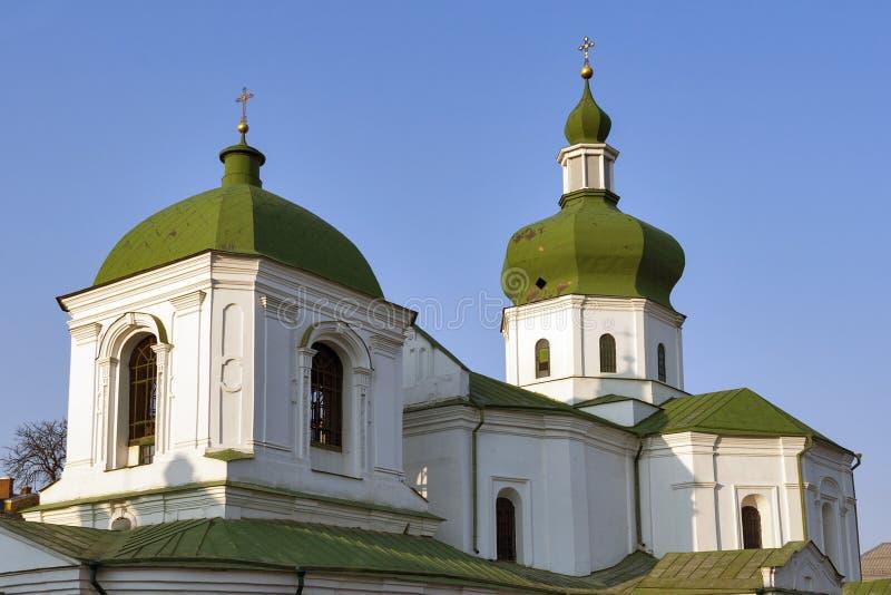 圣尼古拉斯Prytysk教会在基辅,乌克兰 库存照片