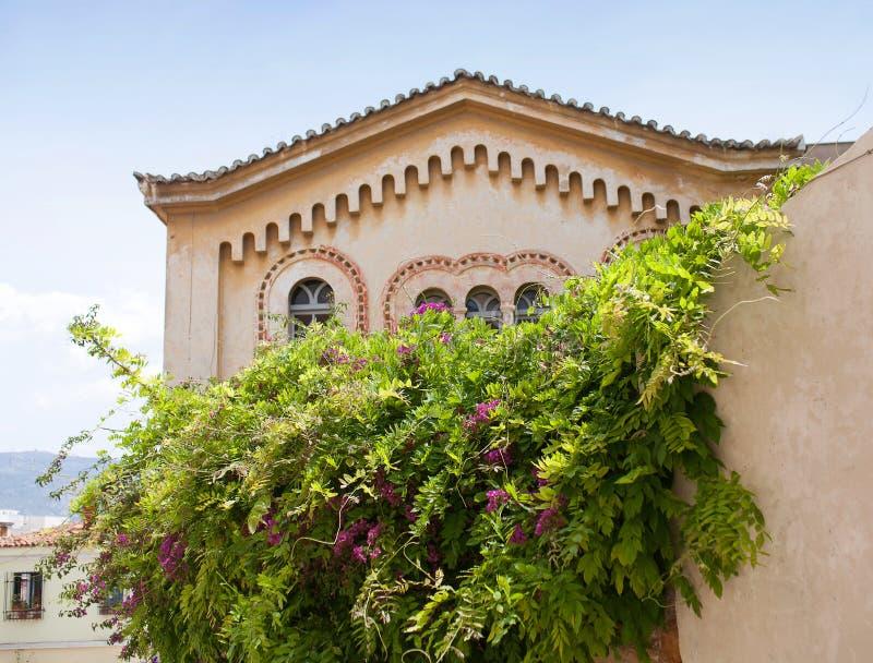 圣尼古拉斯Rangavas拜占庭式的教会在雅典,希腊 免版税库存照片
