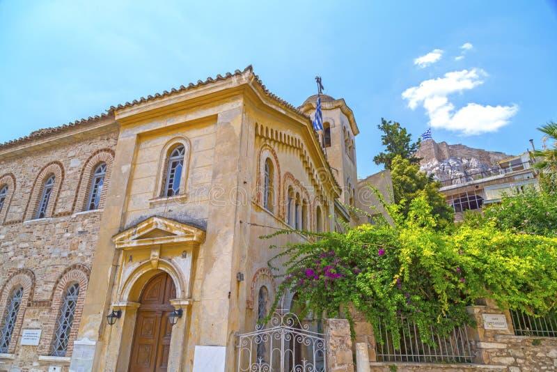 圣尼古拉斯Rangavas贴水帕帕佐普洛斯教会在雅典 库存图片