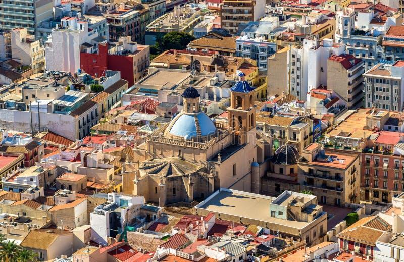 圣尼古拉de巴里共同大教堂在阿利坎特,西班牙 库存图片