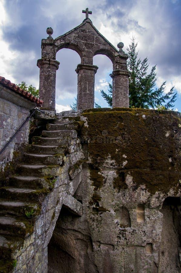 圣岩石` s佩德罗修道院  库存图片
