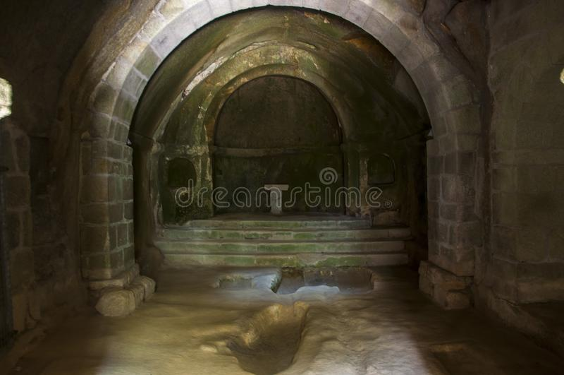 圣岩石` s佩德罗修道院  库存照片