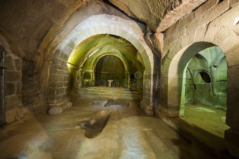 圣岩石` s佩德罗修道院  免版税图库摄影