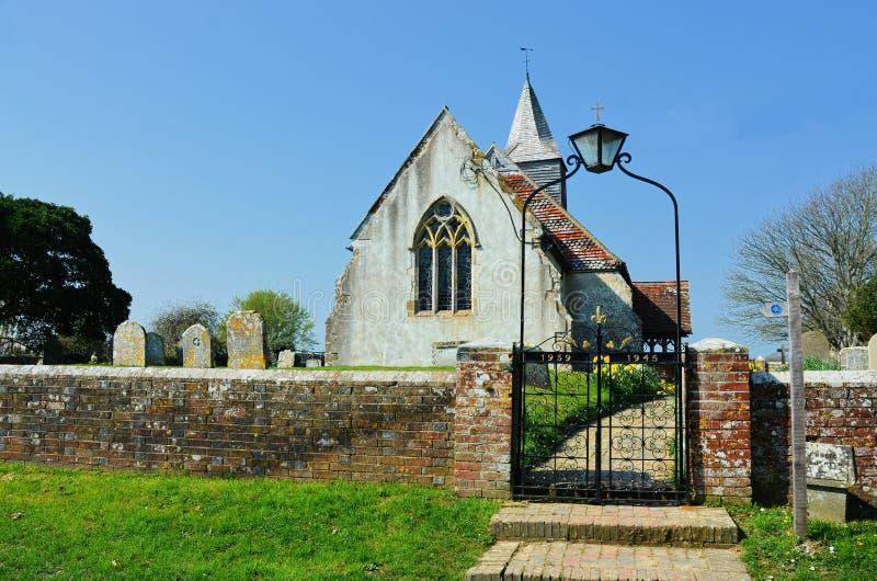 圣巴塞洛缪教会,Chalvington,东萨塞克斯郡英国 免版税库存图片