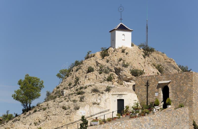 圣巴斯克华偏僻寺院洞在奥里托 免版税库存图片