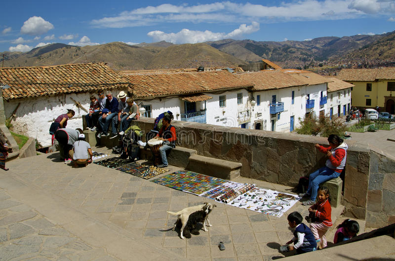 圣布拉斯,库斯科,秘鲁 免版税图库摄影