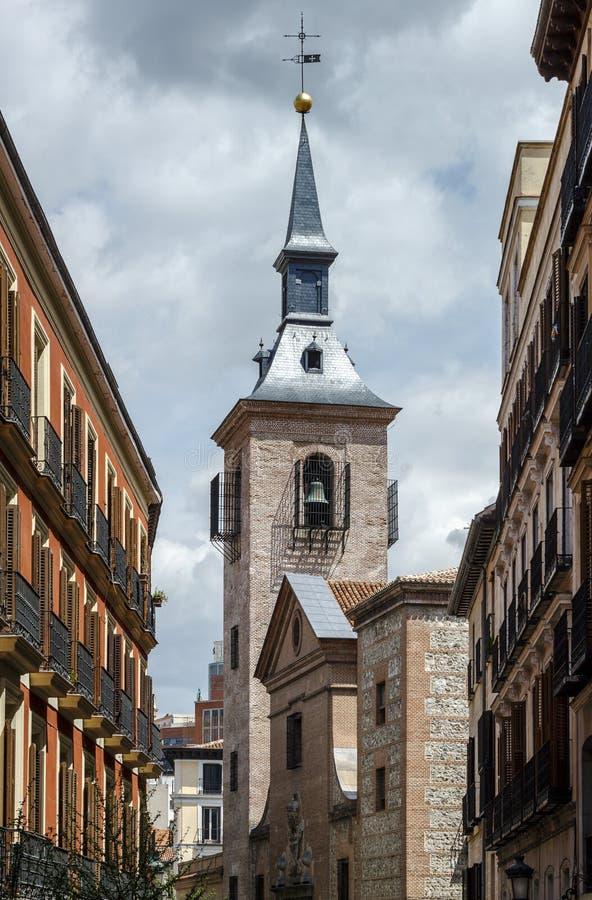 圣希内斯阿尔勒马德里-西班牙的教会 免版税库存照片