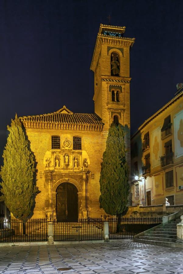 圣希尔和圣安娜,格拉纳达,西班牙教会  免版税图库摄影