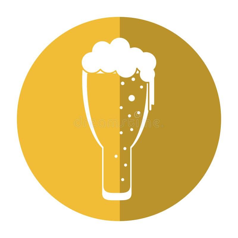 圣帕特里克天冷淡的玻璃啤酒庆祝阴影 向量例证