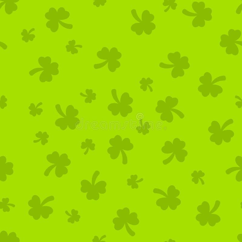 圣帕特里克的天绿色软的无缝的样式 免版税库存图片