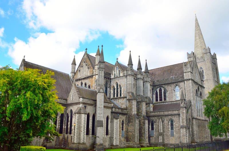 圣帕特里克& x27; s大教堂在都伯林,爱尔兰 库存照片