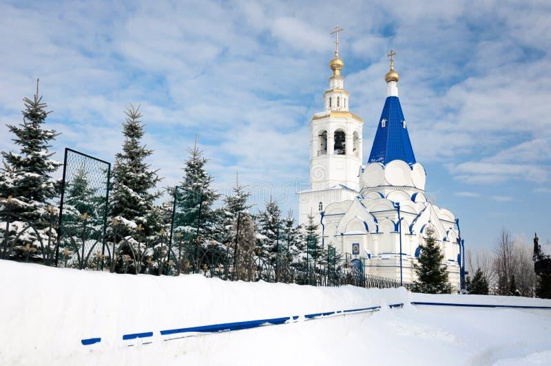 圣弗拉基米尔相等对这传道者教会在Zilantov圣洁Dormition修道院里 库存照片
