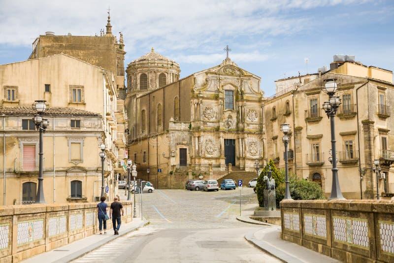 圣弗朗切斯科d'Assisi,卡尔塔吉龙,西西里岛 免版税库存照片