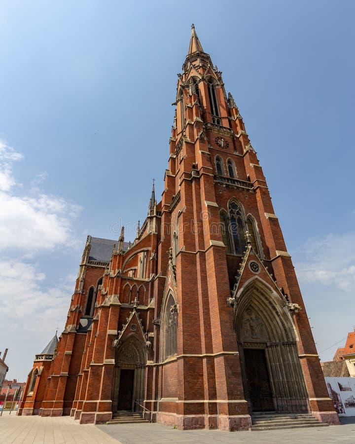 圣彼得和保罗教会在奥西耶克,克罗地亚 免版税库存照片