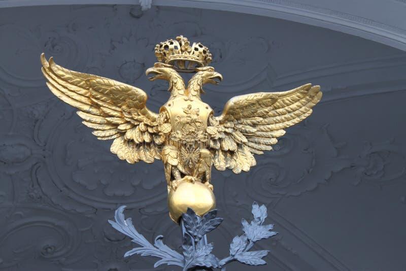 圣彼得堡二重带头的老鹰 图库摄影