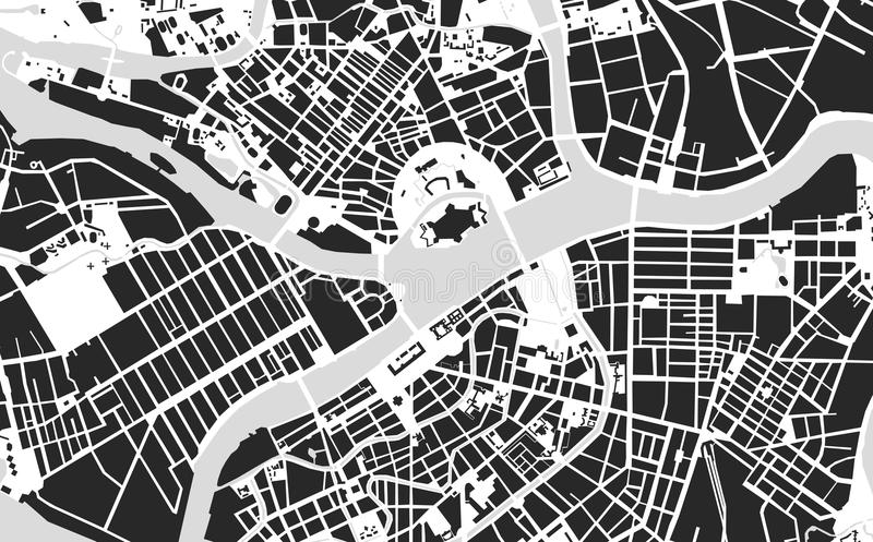 圣彼得堡地图 库存例证