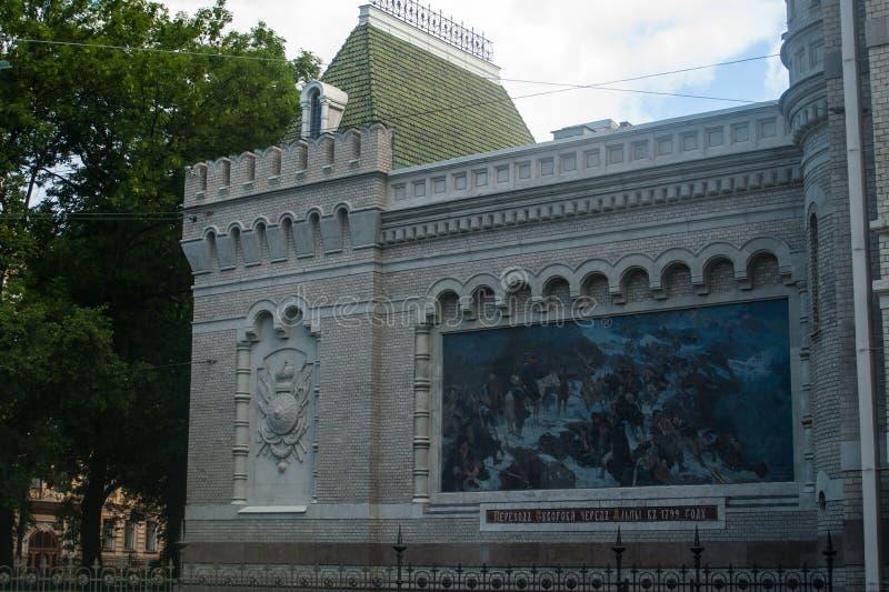 圣彼得堡,俄罗斯- 2017年7月02日:最高统帅苏沃洛夫博物馆  库存图片