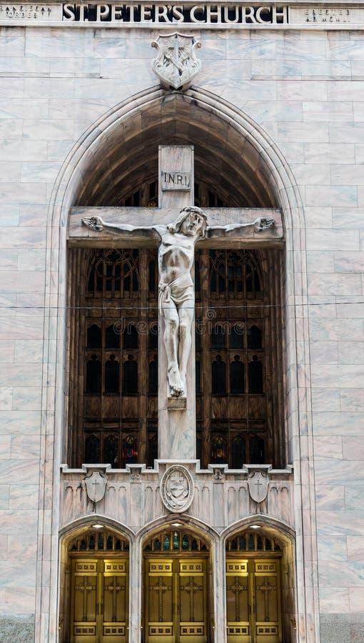 圣彼得教会在芝加哥 图库摄影