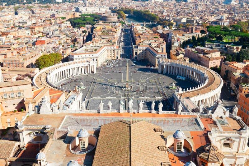 圣彼得的广场,梵蒂冈,罗马,意大利 免版税库存图片