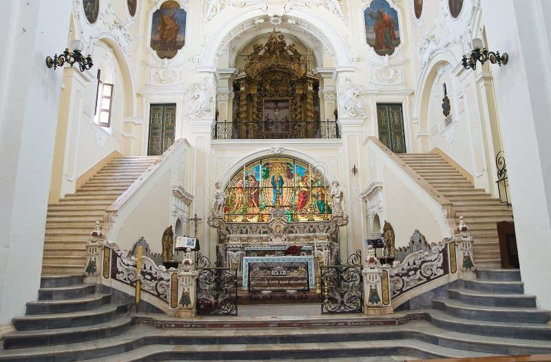 圣彼得罗主教堂。Putignano。普利亚。意大利。 免版税库存照片