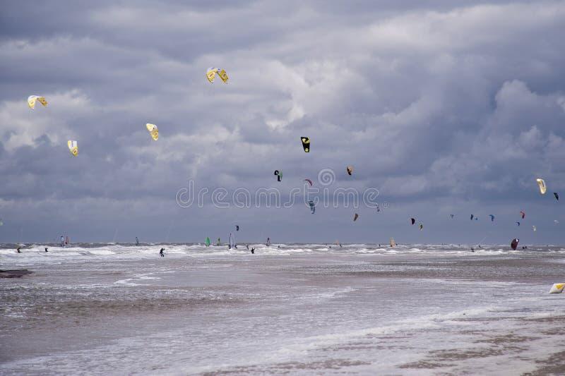 圣彼得Ording海滩  库存图片