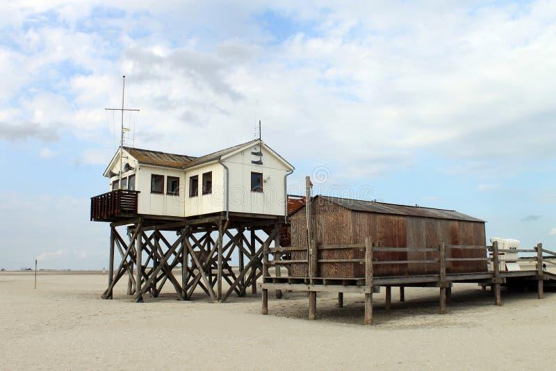 圣彼得Ording海滩  免版税库存图片