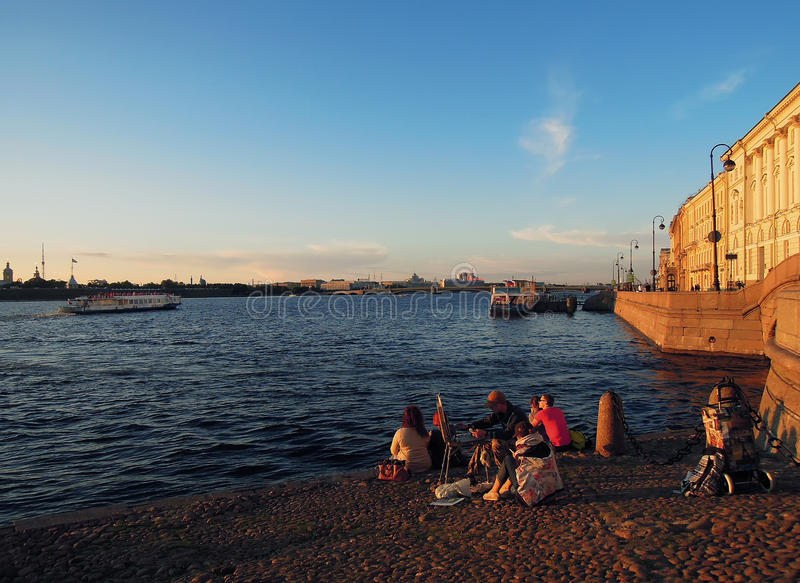 圣彼德堡、俄罗斯、彼得和保罗堡垒 免版税库存照片