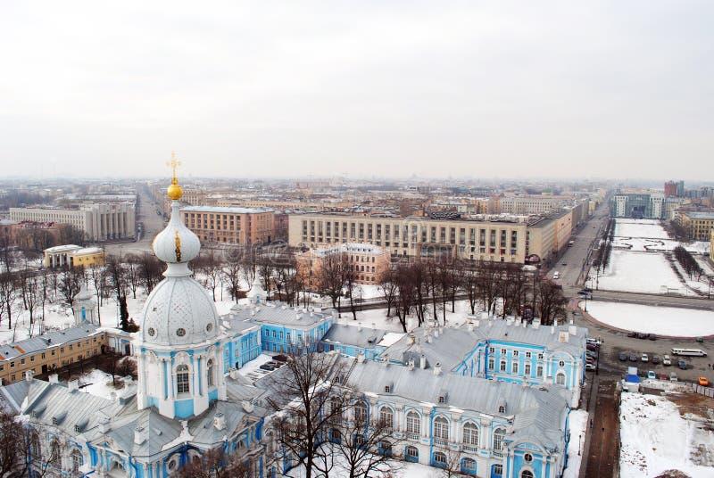 圣彼德堡在冬天 免版税库存照片