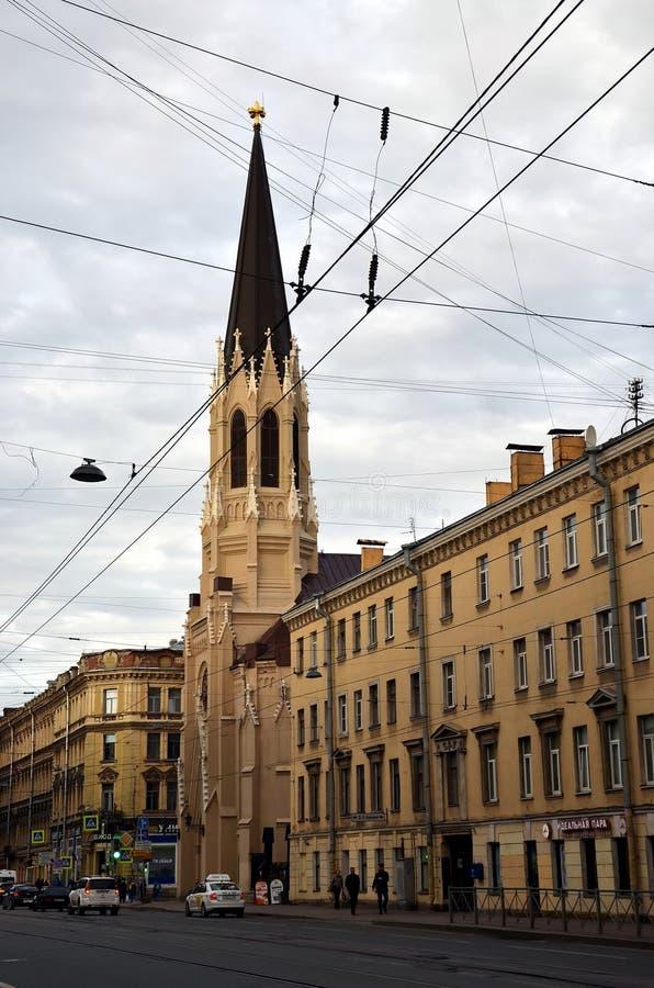 圣彼德堡城市视图  图库摄影