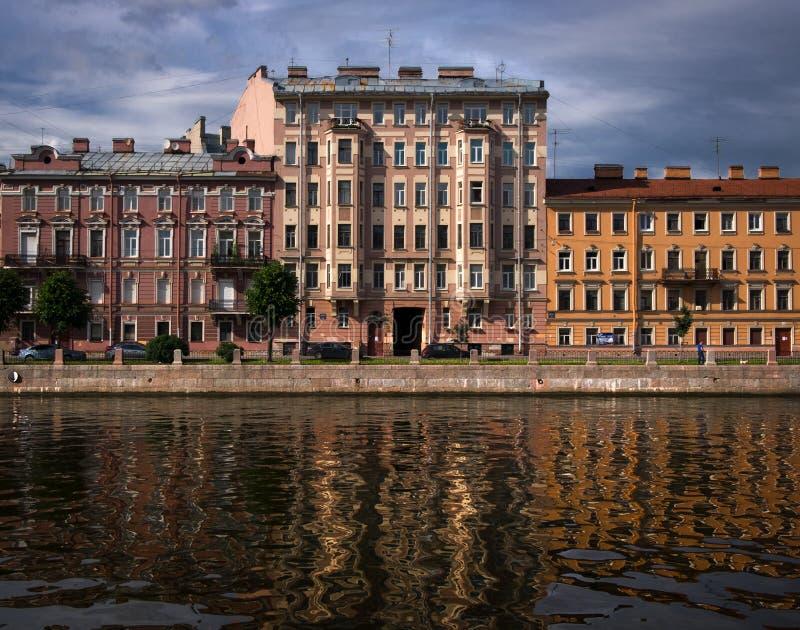 圣彼德堡大厦门面  免版税图库摄影