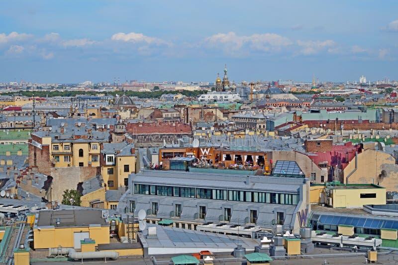 圣彼德堡屋顶  免版税库存照片