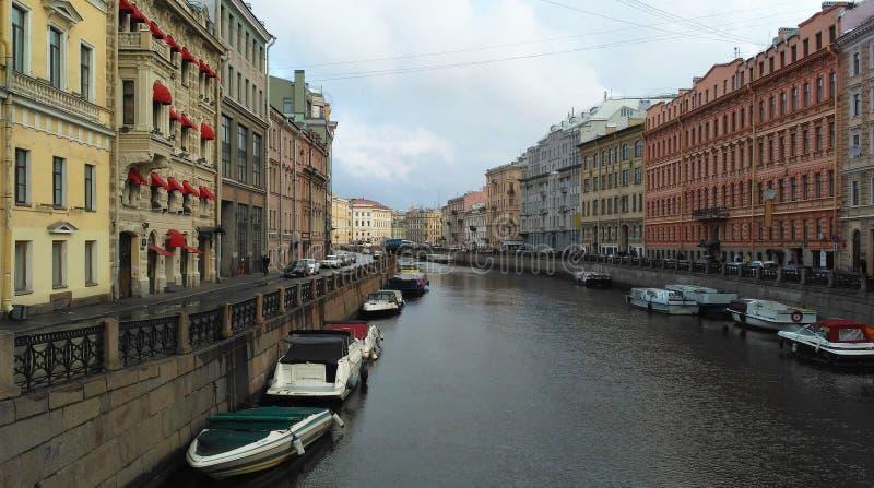 圣彼德堡河道  库存图片