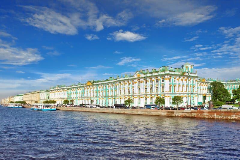 圣彼德堡视图从Neva河的 免版税图库摄影